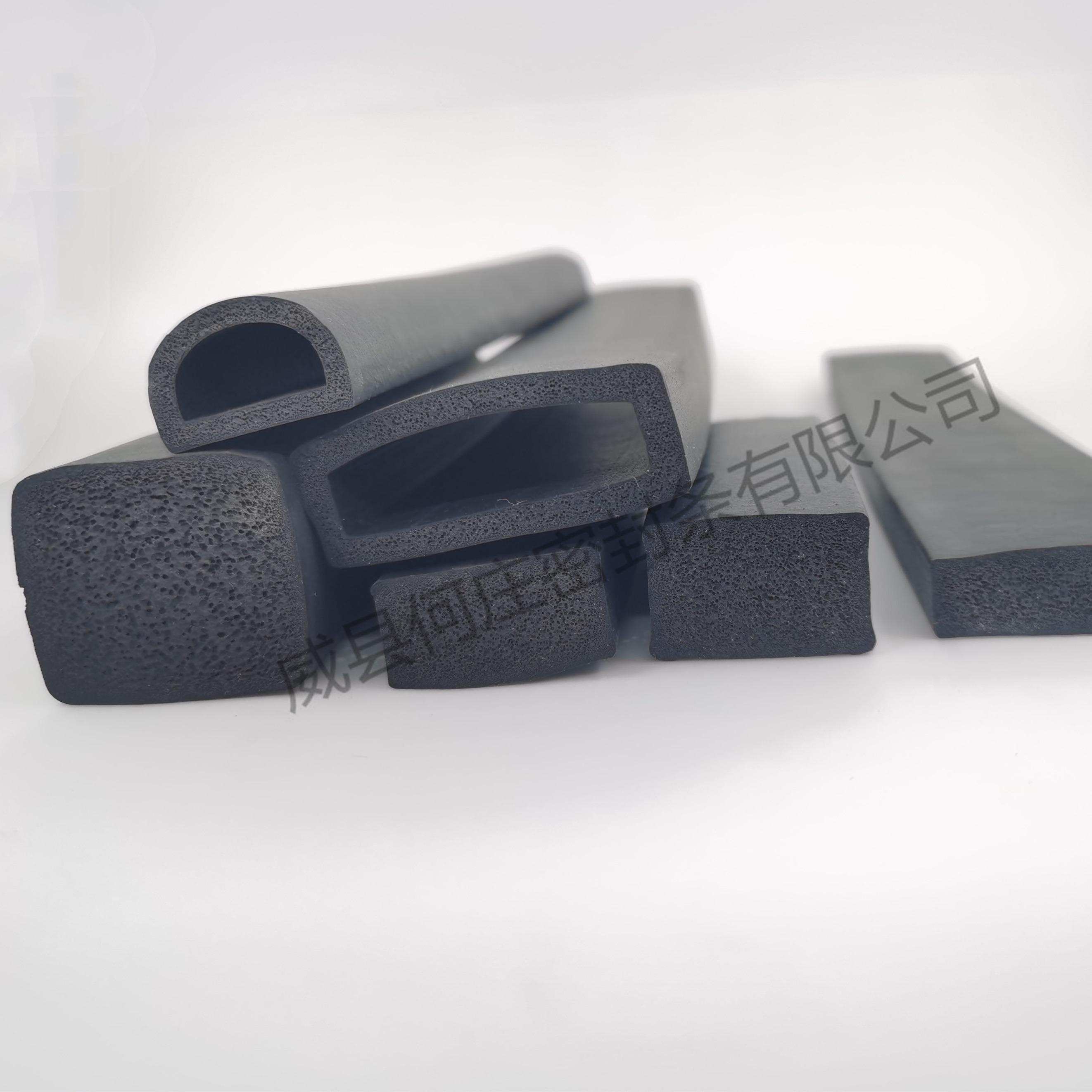 生产三元乙丙发泡海绵密封条 epdm配电柜箱黑色橡胶发泡方条