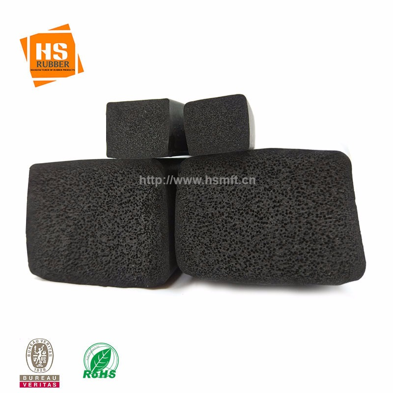 三元乙丙海绵发泡橡胶挤出条 平板橡胶条 方型实心阻燃密封条