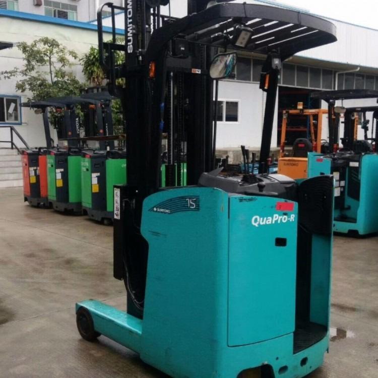 九成新二手前移式电瓶叉车出售 2吨货架堆高电动叉车举高6.8米