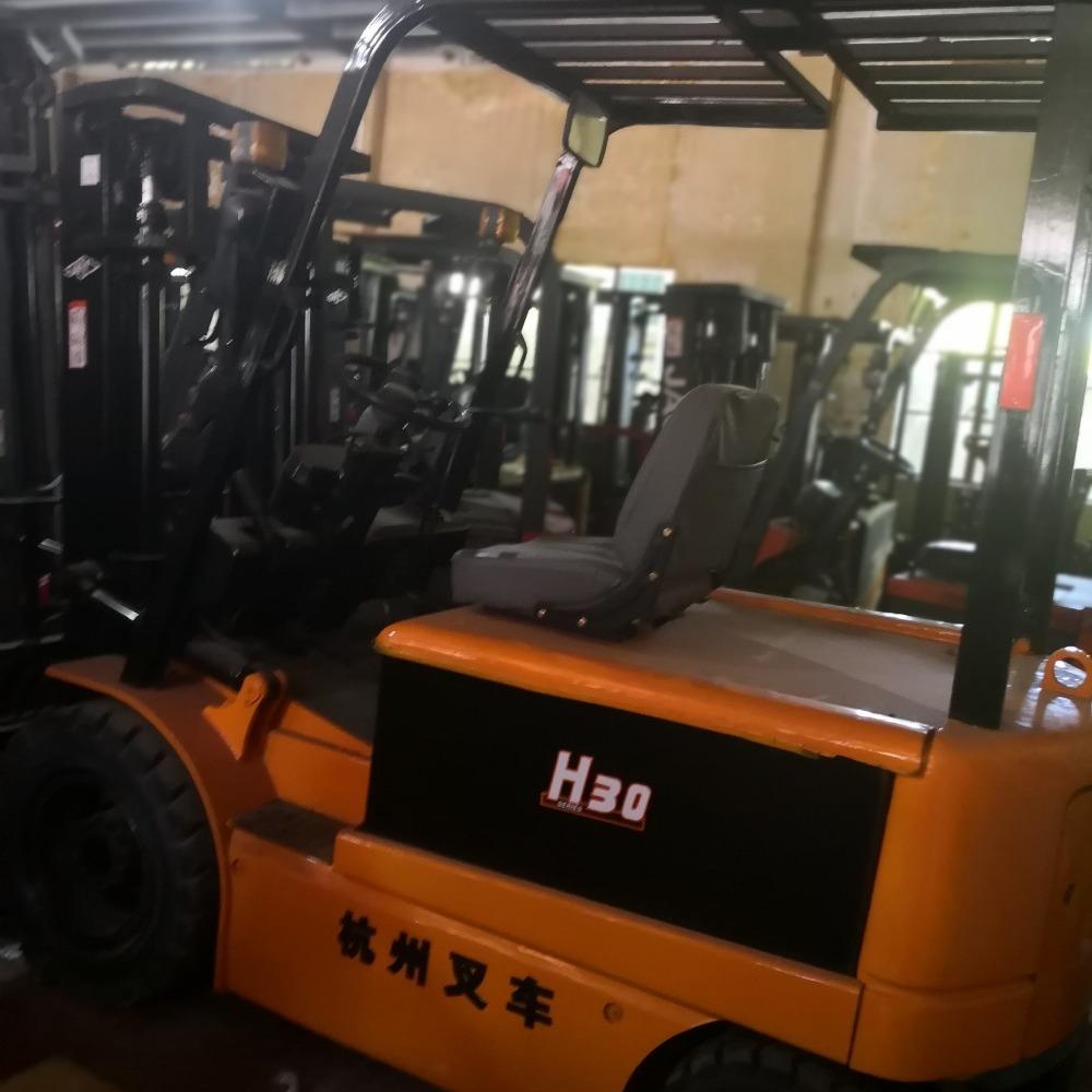 转让2吨3吨自动挡杭州电瓶叉车 举高4米物流专用二手电动叉车