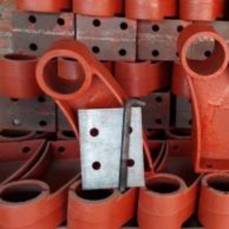 防城港橋梁護欄底座支架 鑄鐵牛角型防撞護欄支架 木子敬請關注