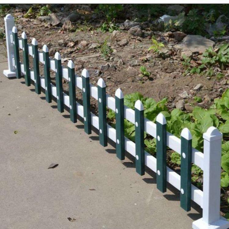 格拉瑞斯草坪护栏厂  现货直销PVC塑钢花园围栏 市政街道绿化隔离围栏报价