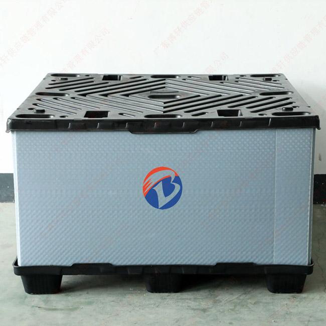 新款1350 吹塑蜂窩板圍板箱 廠家直銷吹塑天地蓋