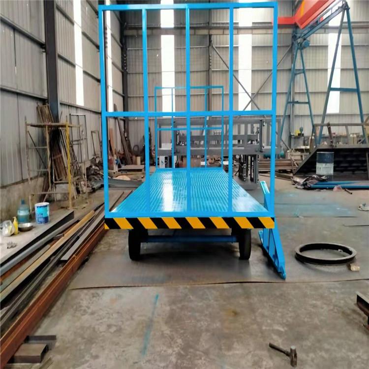 物流园区搬运拉货车 叉车牵引平板车 平板拖车 盖亚机械多种规格