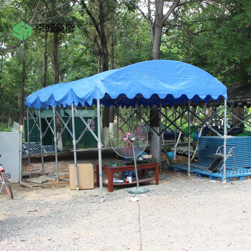 無錫市錫山區 京誠豪斯 伸縮篷 移動推拉棚 防雨棚 推拉遮陽棚 夜宵篷 擺攤蓬