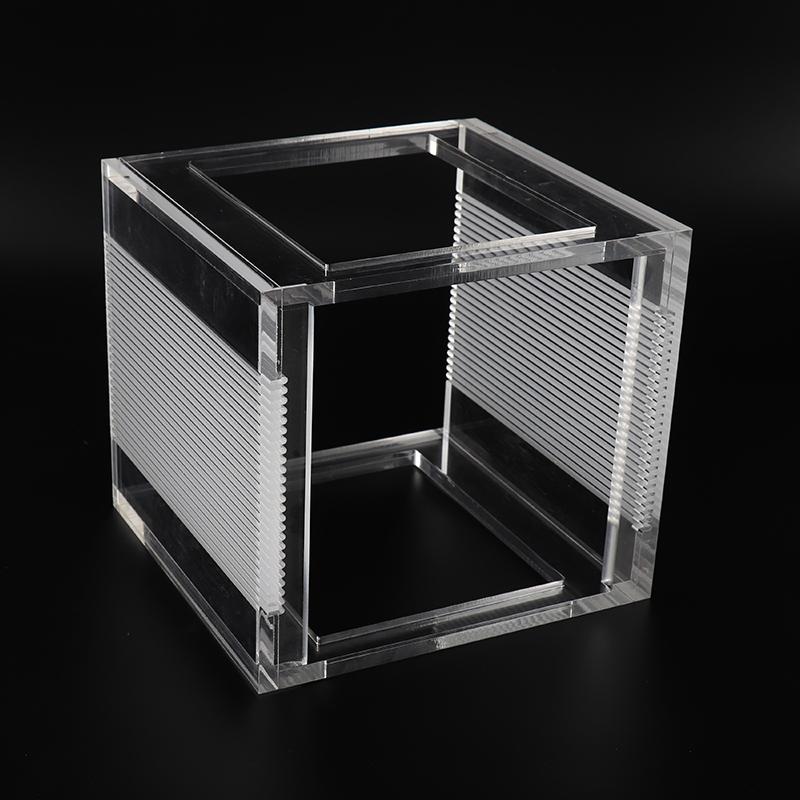 深圳明仕 高透亞克力盒子定制 有機玻璃展示盒定制