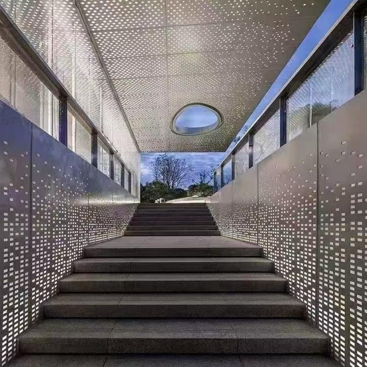 裝飾沖孔鋁單板幕墻 實地廠家提供專業師傅安裝 藝術鏤空 歡迎咨詢選購