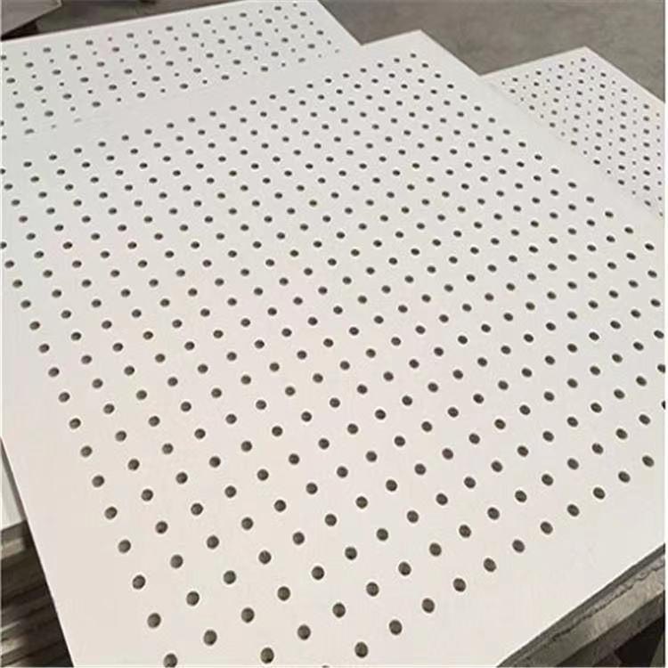 石膏穿孔吸音板 硅酸鈣穿孔復合吸音板歐洛風硅酸鈣穿孔吸音板 玻纖復合吸音板