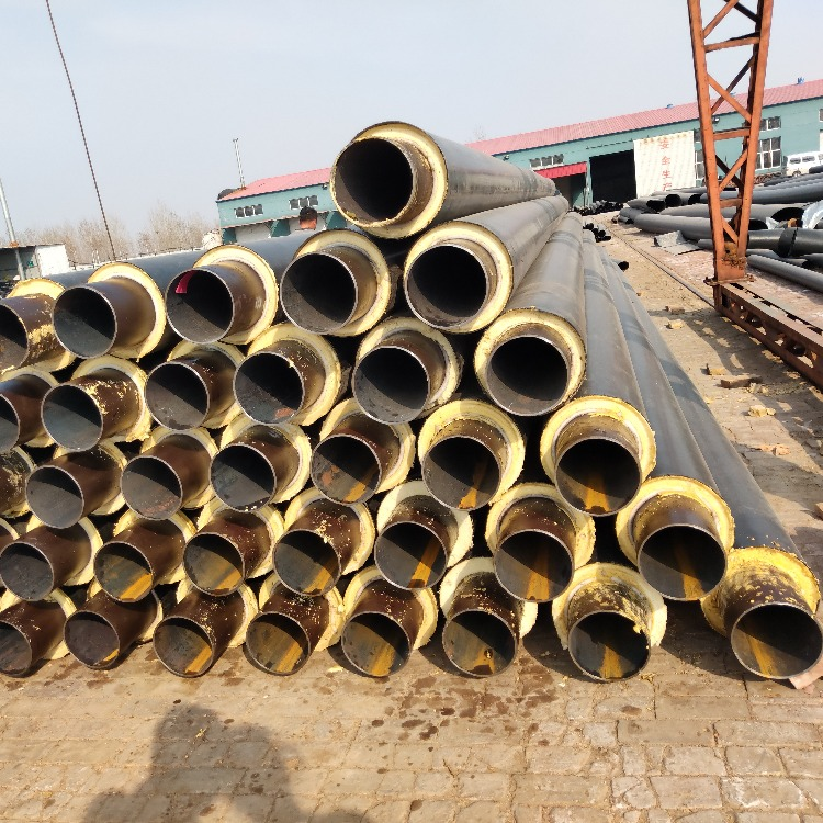 聚氨酯黑黃夾克保溫管 蒸汽管道保溫材料 高密度聚乙烯外護管