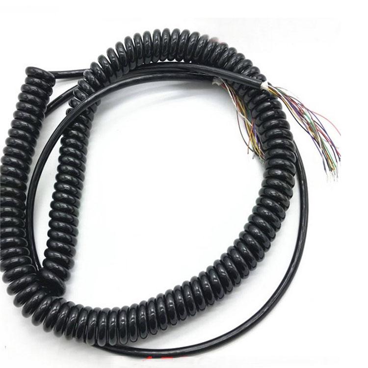 pur電線高強度耐磨抗拉專用電纜亮面彈簧線電線盤電纜 斯拜秀