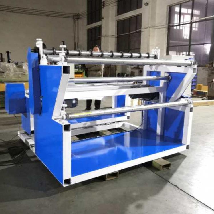 熔噴布無紡布分切復卷機 大小型分切復卷機操作視頻 廠家直銷 鳴工機械