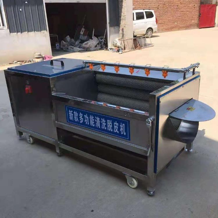 騰拓 土豆清洗機 紅薯清洗脫皮機 洗土豆的機器 120型