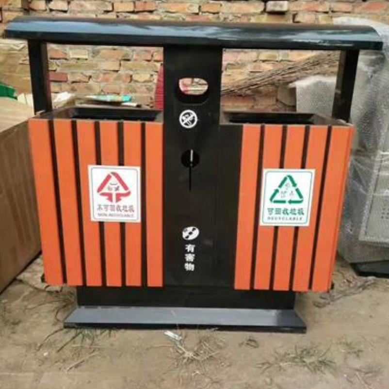 科陽不銹鋼分類垃圾桶四分類干濕垃圾箱雙桶果皮箱