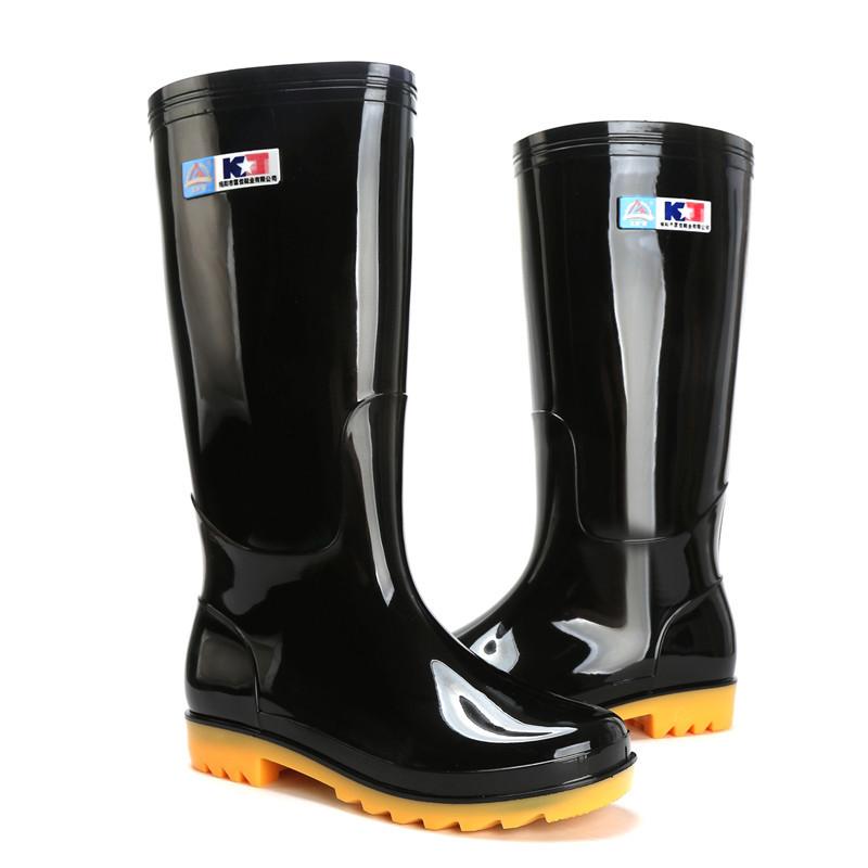 路政執勤招標平跟雨鞋天然橡膠內有吸汗布防風護口彈簧鎖扣威安