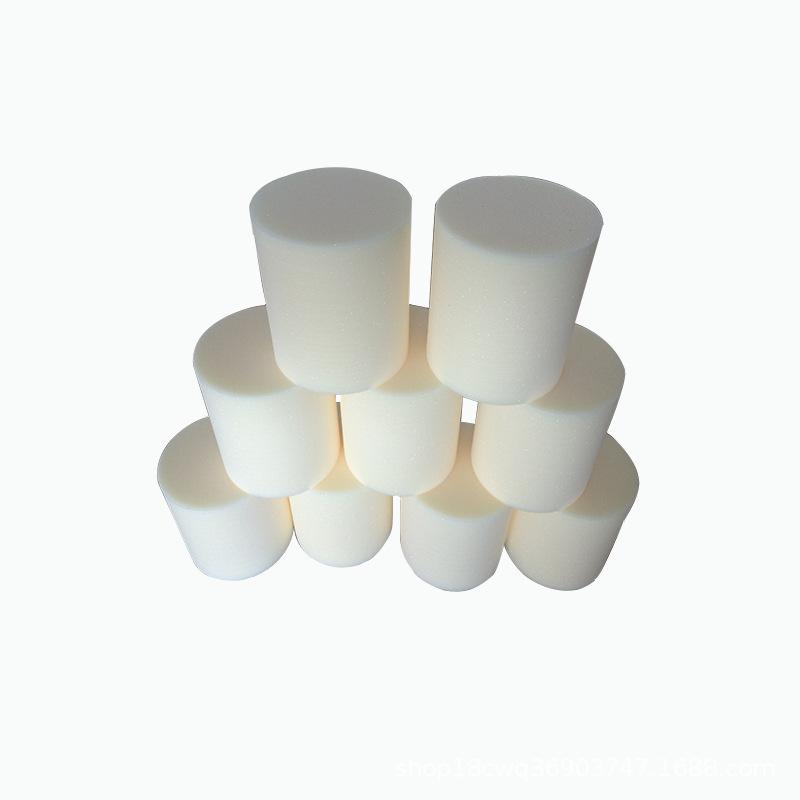 厂家供应 不变形海绵柱 气动管道清洗子弹海绵  高密度清洗海绵柱