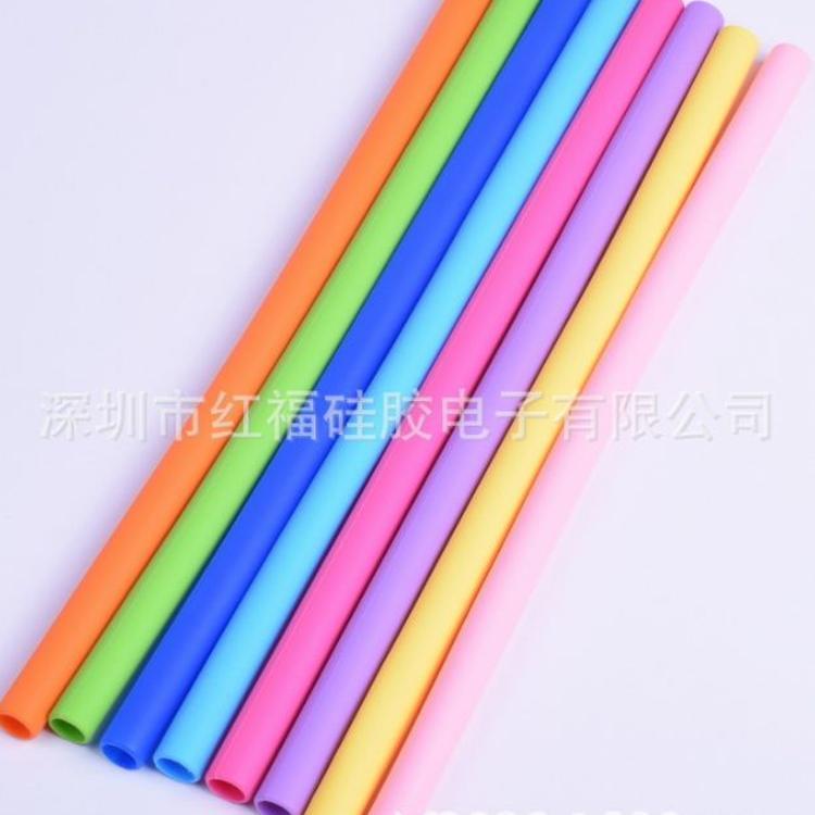 硅胶吸管套装 亚马逊热销彩色硅胶吸管 环保硅胶吸管 奶茶吸管
