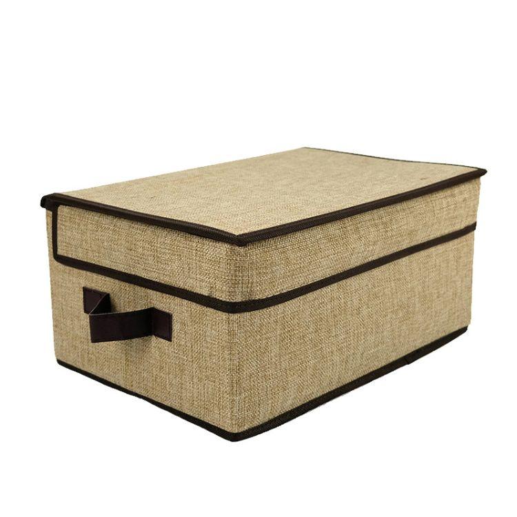 麻布收纳箱厂家批发 生活用品神器玩具大容量储物箱 折叠收纳箱