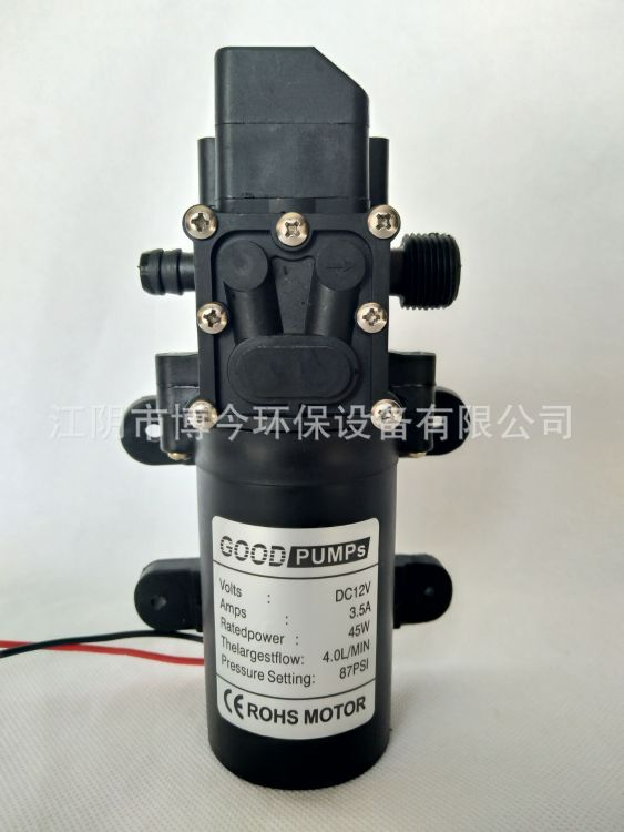 DC12V隔膜泵压力开关智能泵自动停机电动直流洗车水泵出口巴西