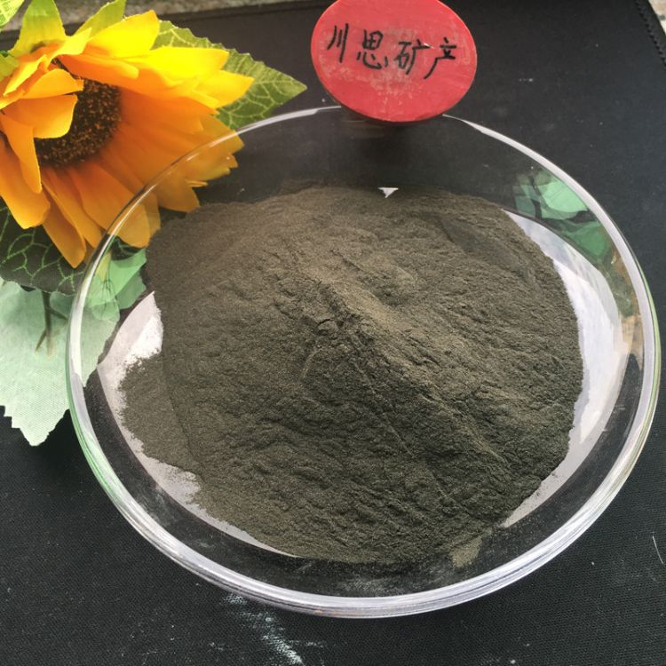 厂家供应黑色电气石粉 325目高纯电气石粉 电气石颗粒