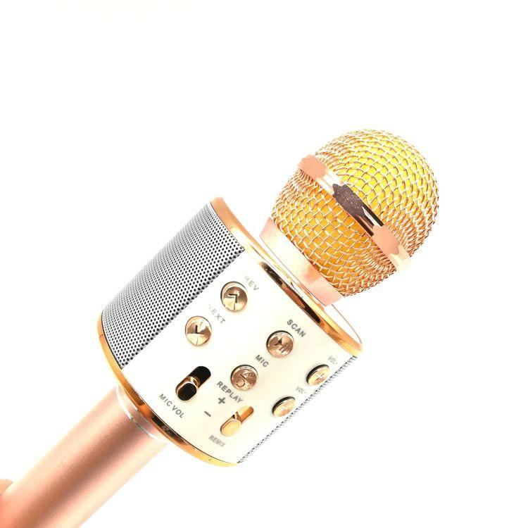 爆款 ws-858手机无线蓝牙k歌麦克风 k歌宝直播话筒音响 厂家直销