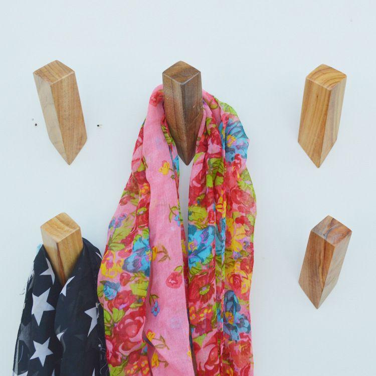 [实木挂钩]日式北欧实木质创意现代简约装饰强力挂钩壁钩