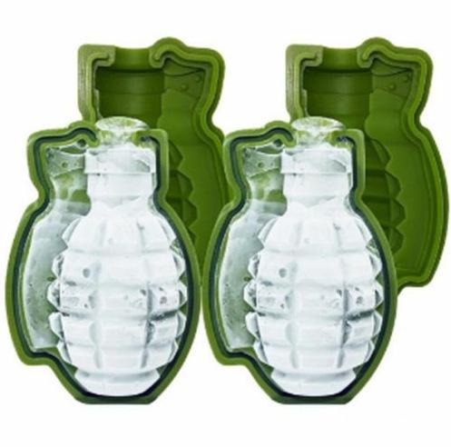 diy冰格 创意硅胶手榴弹蛋糕模  硅胶烘焙模具 手雷冰格