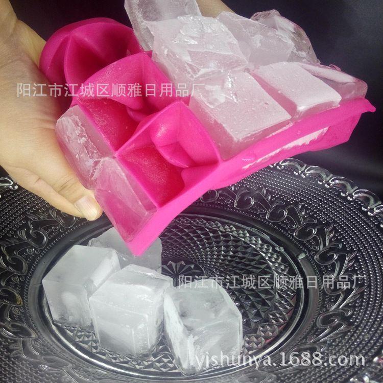 冰块模具 硅胶冰格 方形冰格 15格硅胶冰格 红酒工具 厨房工具