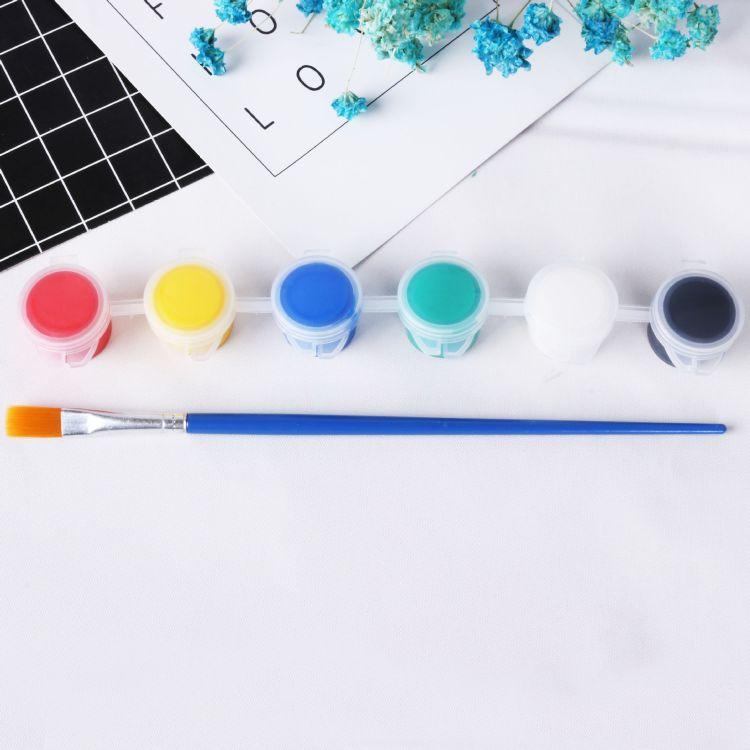 儿童丙烯颜料DIY涂鸦彩绘颜料美术颜料风筝石膏娃娃专用颜料