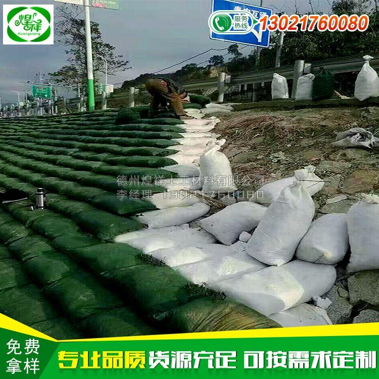 绿色环保生态袋 河道护坡生态袋 带草种生态袋 山东生态袋厂家