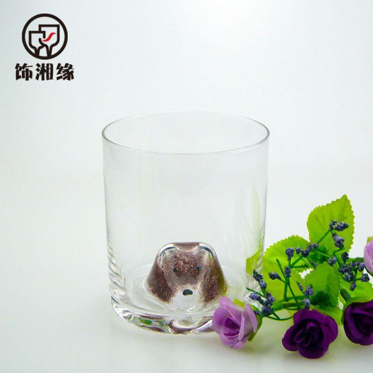 厂家现货创意卡通动物小熊杯家用耐热无铅玻璃果汁杯小浣熊奶茶杯