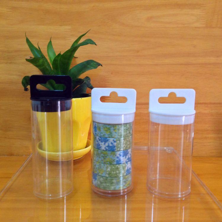 供应PVC胶带包装管桶  和紫胶带包装透明管 PET印刷筒