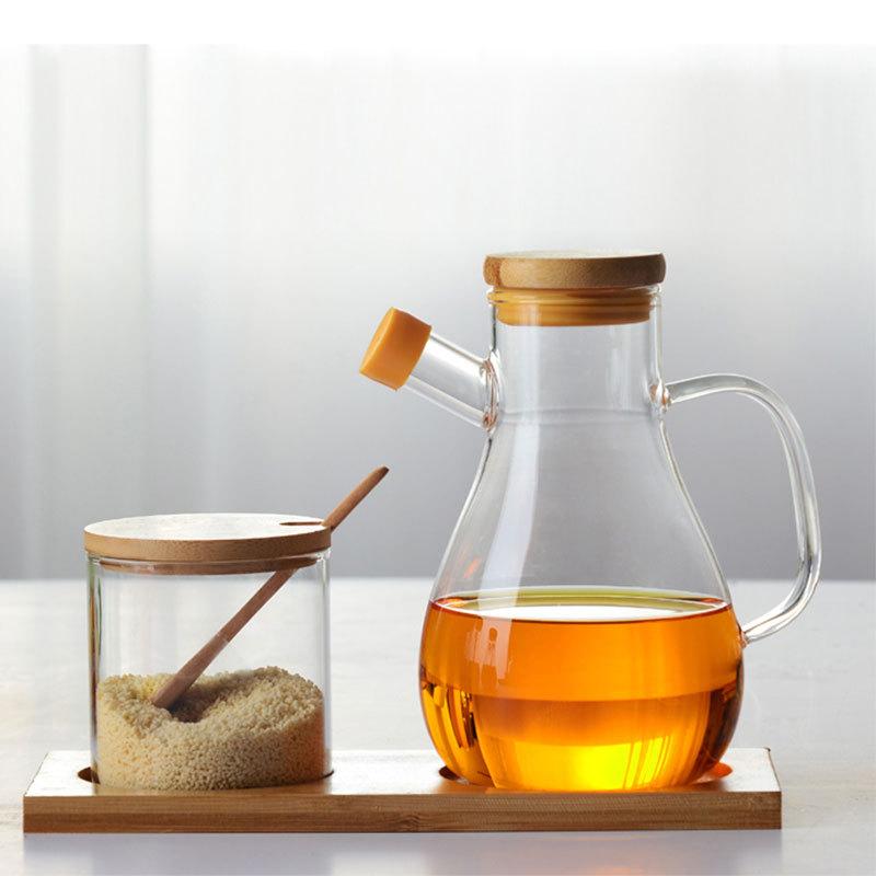 玻璃透明油瓶 防漏大号水滴油壶家用酱油醋瓶 日式倒油灌厨房用品