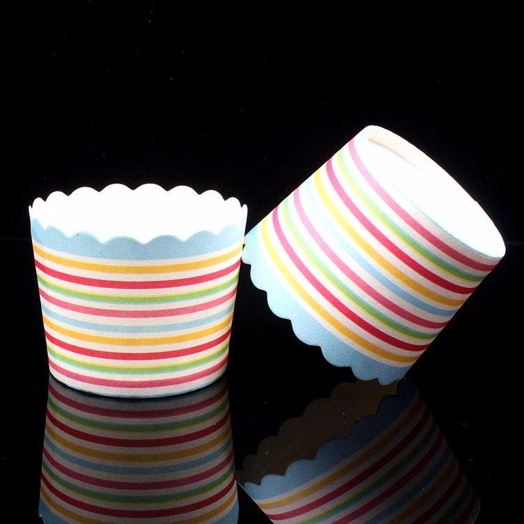 彩条小号机制纸杯 蛋糕纸杯 马芬蛋糕杯 烘焙包装 烘焙工具
