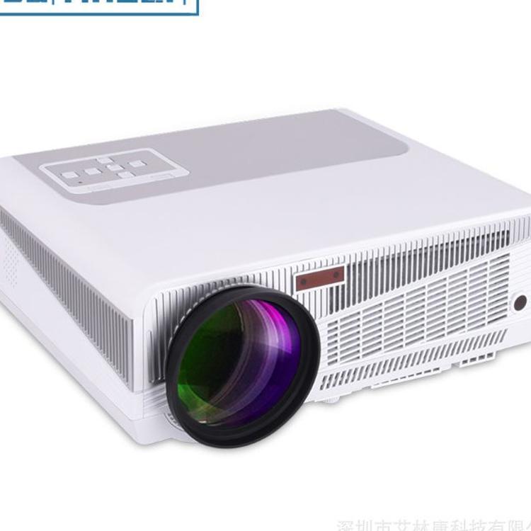 热销轰天炮lcd投影机 LED86+高清1080 P安卓6.03D家庭影院投影仪