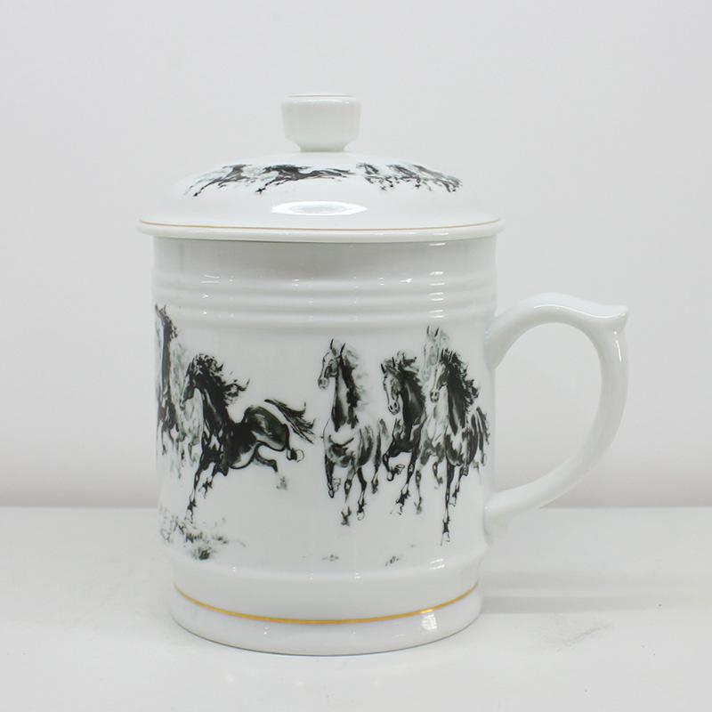 厂家直销陶瓷杯900毫升景德镇陶瓷杯创意杯子办公马克杯水杯