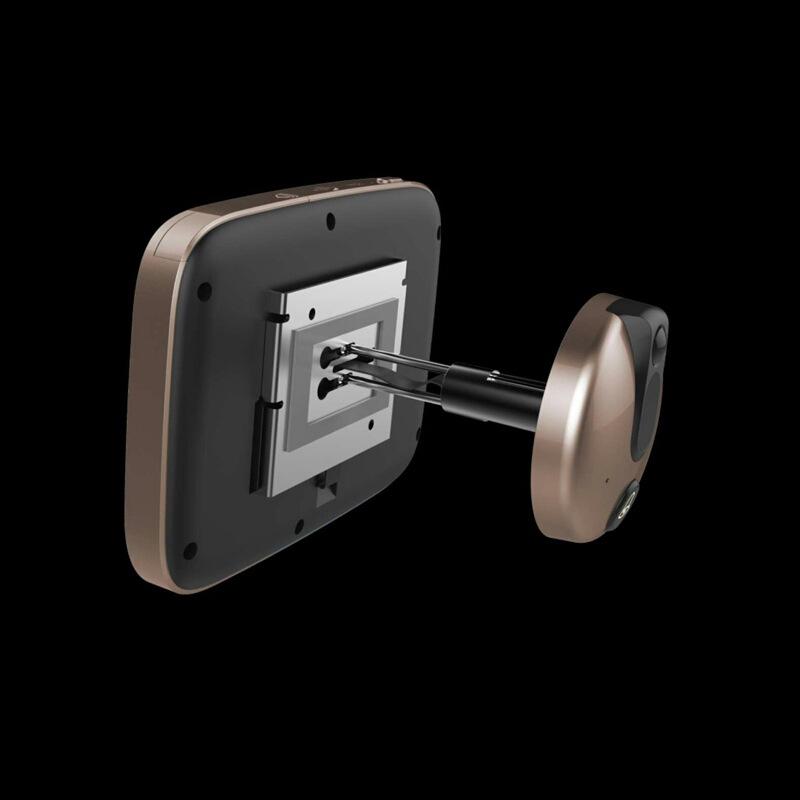 智能电子猫眼无线可视门铃 4.3寸可视猫眼 防盗门门镜移动侦测