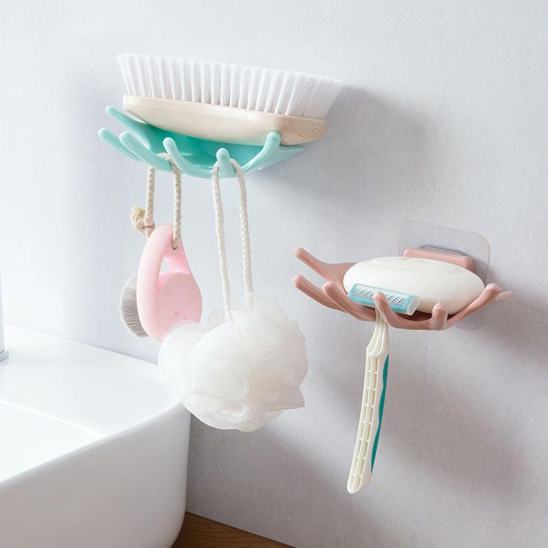 哼好设计免打孔肥皂盒浴室沥水香皂架卫生间壁挂置物架肥皂香皂盒