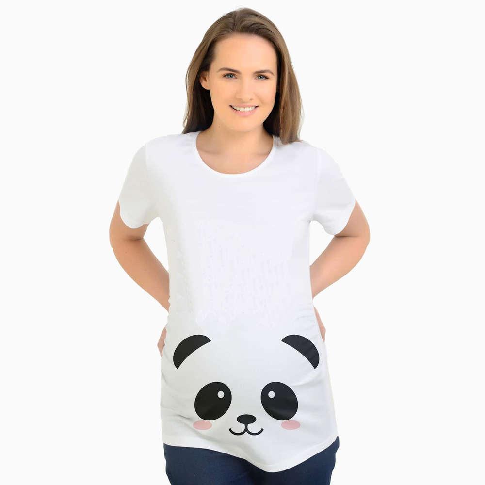 孕妇T恤印花熊猫 欧美外贸出口孕妇装 夏季孕妇Y004P1-YSTWH