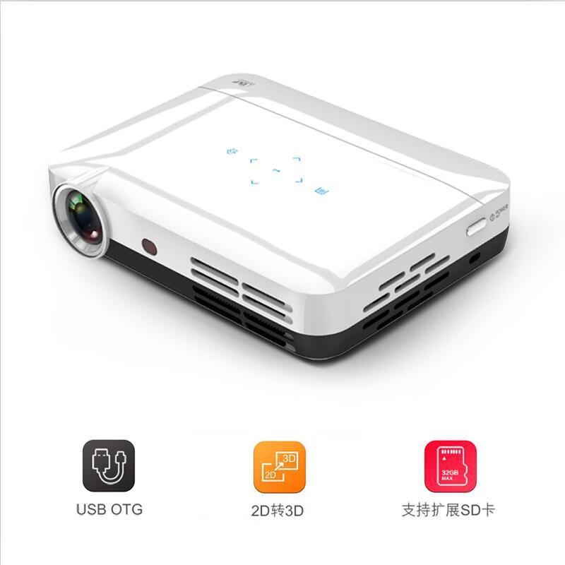 D600 1080P家庭影院 LED高清3D投影仪 DLP微型智能投影仪 同屏版