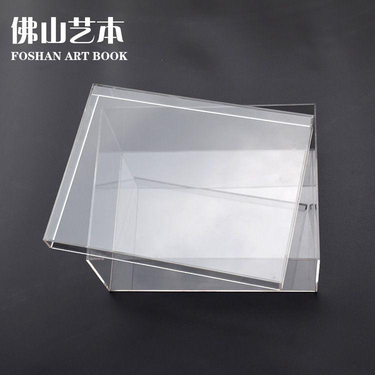 加工定做亚克力收纳盒鞋盒  玻璃盒子定制透明亚克力收纳盒子