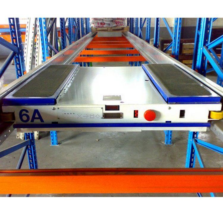 高密度穿梭车存储系统 冷库专用穿梭式货架 高密度存储穿梭车货架