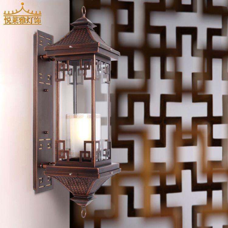 悦莱雅中式铁艺中式古典灯具照明茶楼酒楼订制灯具户外壁灯围墙灯