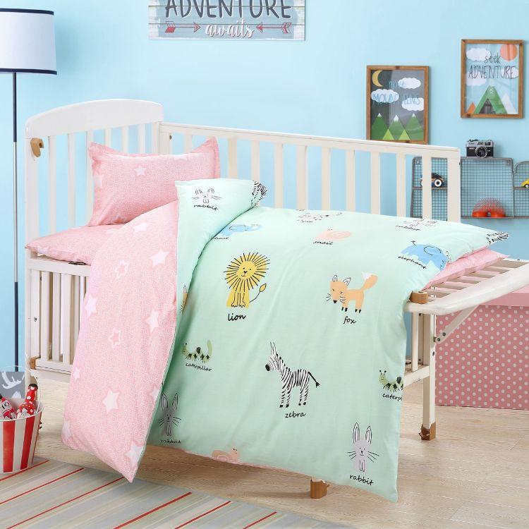 幼儿园被子三件套纯棉婴儿床上用品六件套棉被褥全棉儿童被套批发