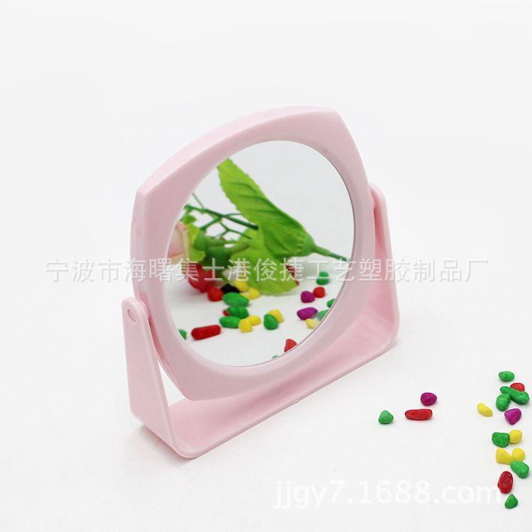 化妆镜厂 糖果色公主化妆镜 塑料双面台式化妆镜 塑料化妆镜