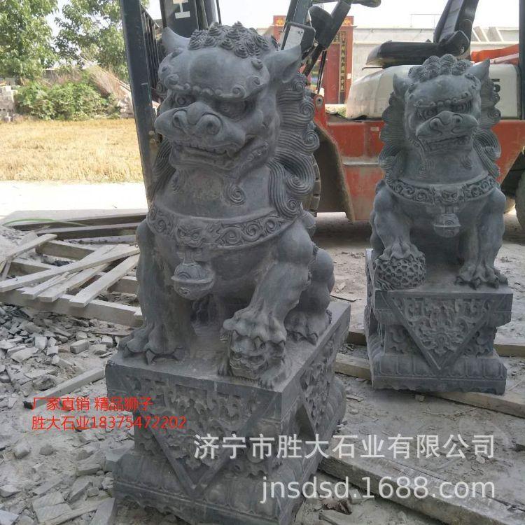 嘉祥县青石花岗岩狮子镇宅吉祥物各种动物石雕专业制作