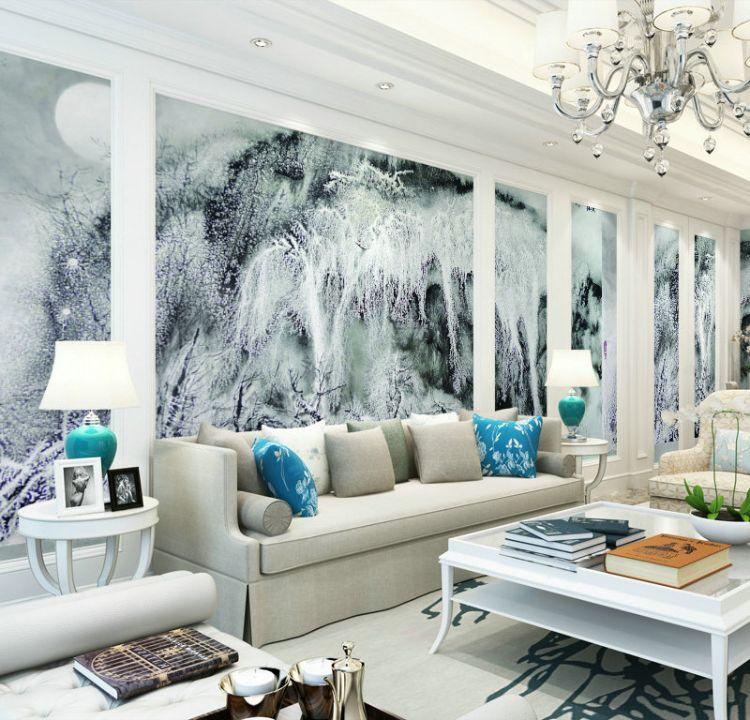 壁画定制壁画大型壁画酒店KTV网吧壁画专业水墨仿手绘壁画