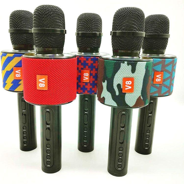 爆款V8手机k歌无线蓝牙电容麦克风全民直播USB话筒KTV音响K歌宝