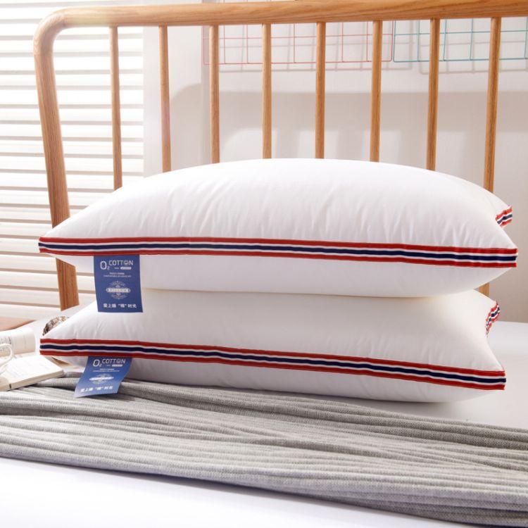 英伦立体羽丝绒枕柔软舒适枕头批发一件代发羽丝枕成人酒店枕头