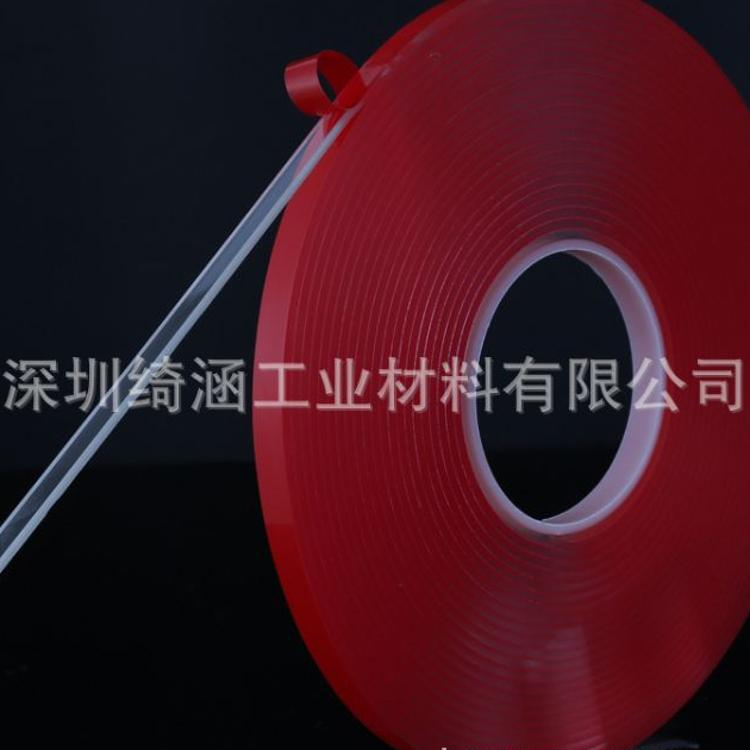 供应汽车10mm*3m胶带 超强力透明无痕双面胶带 3mm厚超强粘力
