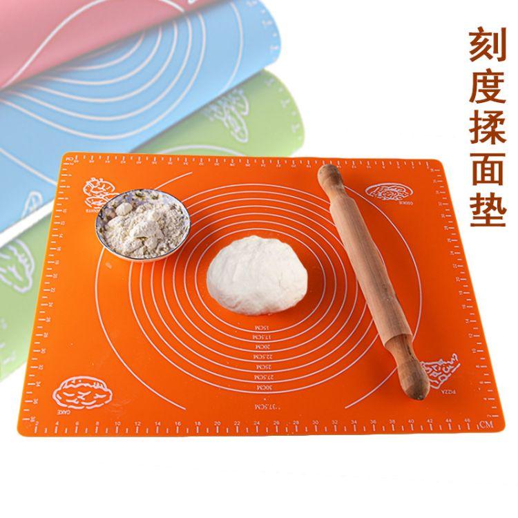 大号40*50带刻度硅胶案板揉面垫防滑不沾烘焙垫面粉烤箱垫耐高温
